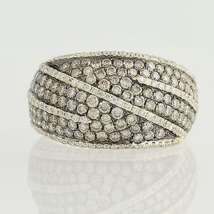 Other 3.67ctw Levian Diamond Cocktail Ring - 14k Yellow Gold Black Rhodium Chocolate