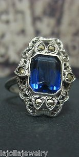 Other .925 Sterling Silver Ladies Blue Stone Ring