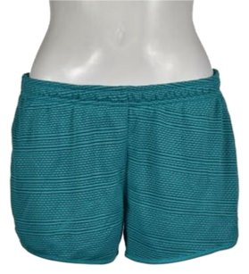 Other Nike Dri Fit Womens Textured Active Casual Cropped Trousers Shorts Teal