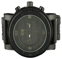 Other All Black Ice Master Arctic Jojo Jojino Big Face Rubber Strap Mens Rodeo Watch