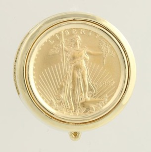 Other American Eagle Coin Enhancer Pendant - 14k Yellow Gold 22k Coin 110oz