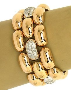 Ammore 18ktwo Tone Gold 1.50ctw Diamonds Wide Robust Bracelet