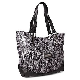 Miadora Leslie Zip Top Gray Tote in Purple