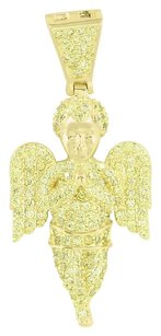 Other Angel Design Pendant Yellow Simulated Diamonds Fully Iced Out Rapper Wear Classy