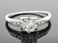 Antique Estate Orange Blossom 0.75 Carat Engagement Ring 6.25 R167