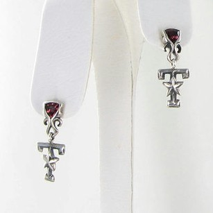 Arista E-11c Texas Am University Aggies Logo Earrings Garnets 925