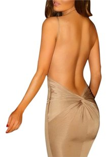 Backless Low Back Tie Knot Dress