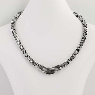 Bali-style Necklace 15 12 - Sterling Silver Wheat Chain Woven Texture