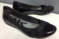 Other Ak Anne Klein Sport Shiny Synthetic Upper Logo Accent B2690 Black Flats