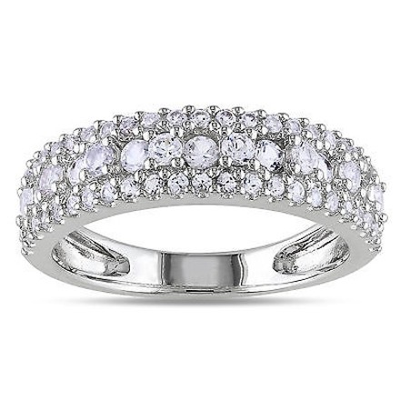 Other Sterling Silver 1 17 Ct Tgw White Sapphire Fashion Ring