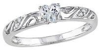 Other Sterling Silver Diamond And 14 Ct Tgw White Sapphire Fashion Ring Gh I2i3