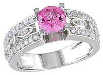 Other Sterling Silver 1 78 Ct Tgw White Sapphire Pink Sapphire Engagement Ring