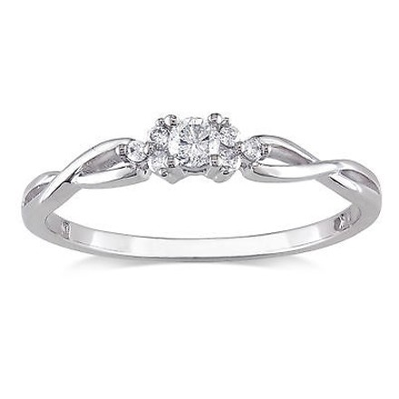 Other 10k White Gold 16 Ct Diamond Tw Fashion Crossover Ring Gh I2-i3