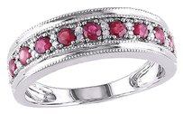 Other 10k White Gold 110 Ct Diamond 38 Ct Tgw Ruby Fashion Ring Gh I1-i2