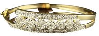 14k Ladies Ygjourney Round Diamond Bangle Bracelet 2.25