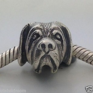 Bark Beads 925 Silver Saint Bernard Dog Charm Fits Most Brands Made In Usa