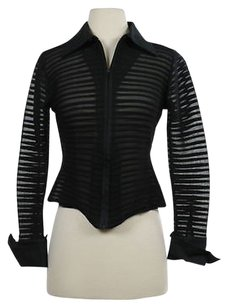 Rayure Womens Basic Black Jacket