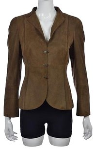 Akris Bergdorf Goodman Womens Brown Blazer Solid Wtw Career Jacket
