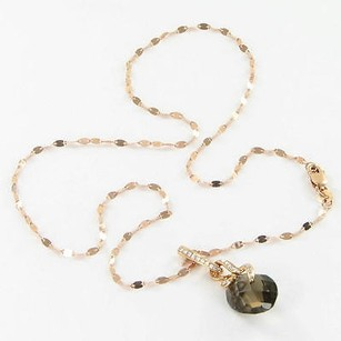 Other Bellarri Necklace Visions 0.12cts Diamonds 5.70cts Smoky Quartz 18k Rg