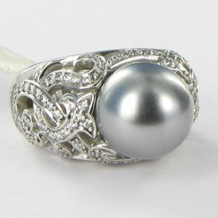 Other Belle Etoile Fiona Ring 925 Grey Pearl Cubic Zirconia