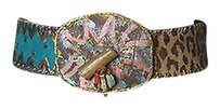 Artsy Leather Belt Artisan Bonnie Harris Florida Boho Womens 32-37 Inch