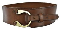 Other Lp By Linea Pelle Womens Brown Wide Width Belt Textured Leather