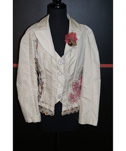 Save The Queen Beige Printed Beiges Jacket