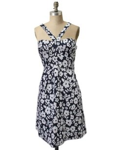 Other Tibi Navy White Floral Sheath Dress