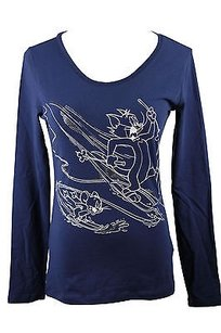 Other Ice By Iceberg Gm100i4m Graphic Tee Solid Womens T Shirt Blue