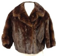 Other Petersson And Son Dark Mink Fur Lined Quarter Sleeve 2698 A Brown Jacket