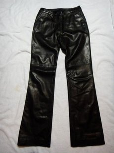 Andrew Marc Leather Boot Cut Jeans