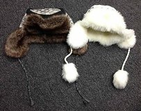Boutique Lot Of Faux Fur Lined Ear Flaps Brown White Gray White Hats B3019