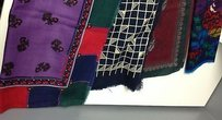 Other Boutique Lot Of Wool Square Fringe Edge Multi Patterned Assorted Scarves B3275