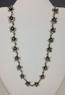 Other Boutique Sterling Silver 925 Inch Reversible Floral Star Fashion Necklace Ko