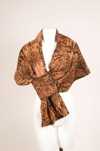 Brown Black Fur Animal Print Stole