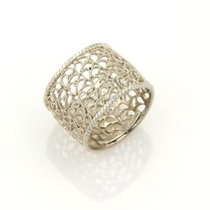 Buccellati Filidoro Lace Sterling Silver 15mm Wide Band Ring -size