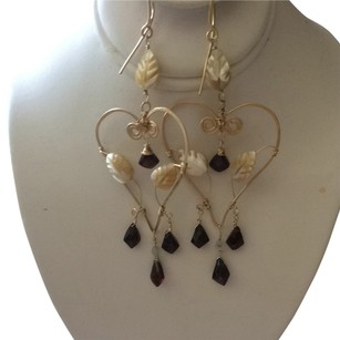 Other Burgundy & Mother Of Pearl Earrings