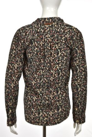 907382bc2ddb00 durable modeling Birds Of Paradis Womens Black Floral Button Down Long  Sleeve Shirt Top  19524232