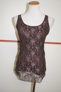 Other Couleur De Rose Lace Cotton With Tags 21486 Top Brown