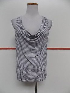 Other Alysi White Scoop Neck Sleeveless Made In Italy A032 Top Multi-Color