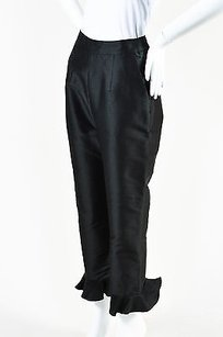 Isa Arfen Cotton Shiny Capri/Cropped Pants Black