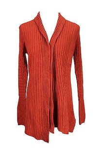 Other Oblige Mt431 Orange Cardigan Solid Womens Sm Sweater