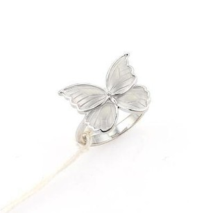 Carrera Y Carrera 18k White Gold Mariposa Butterfly Ring