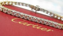 Other Cartier Plat 18kt Round Diamond Tennis Bracelet 9.74c