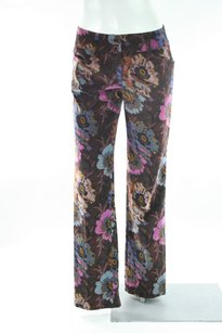 Etro Milano Brown Floral Pants