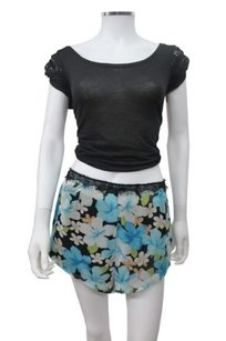 Other Japonica Island Flower Chiffon Lf Shorts Turquoise combo