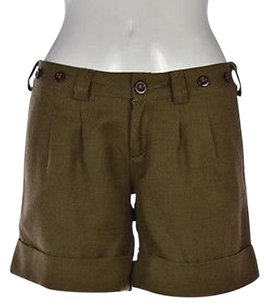 Other Gi Basic Goods Womens Olive 0 Wool Casual Cropped Trousers Shorts green