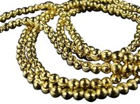 10k 4 Mm Yellow Gold 36 Inch Franco Beaded Moon Chain