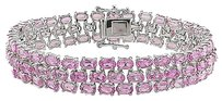 Other Sterling Silver Created Pink Sapphire Bracelet 7 37.05 Ct