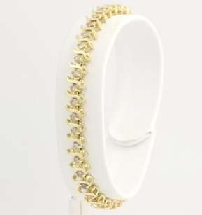 Other Champagne Diamond Tennis Bracelet 6 - 14k Yellow Gold Womens Natural 1.50ctw